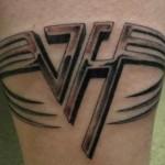 Tatuagens em homenagem a banda Van Halen