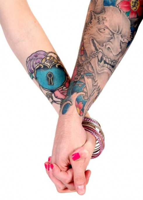 Casais tatuados para o Valentine's Day (48)