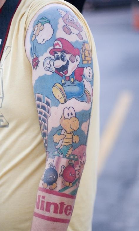 Tatuagens de Super Mário Bros (10)