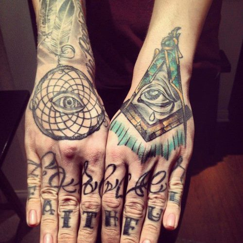 Fotos de tatuagens nas mãos e dedos (29)