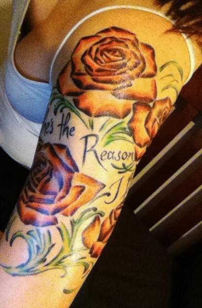 Fotos de tatuagens de rosas (35)
