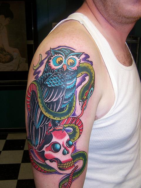 Tatuagens criativas de corujas (159)