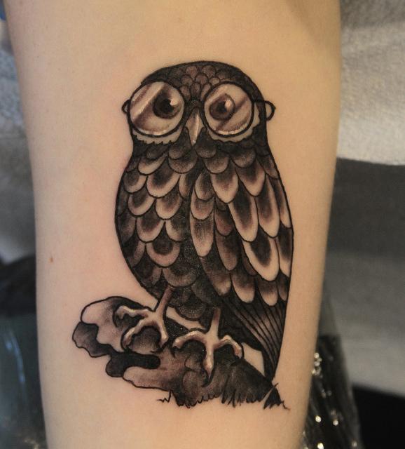 Tatuagens criativas de corujas (158)