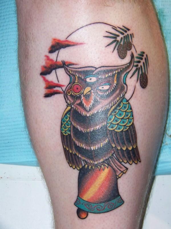 Tatuagens criativas de corujas (154)