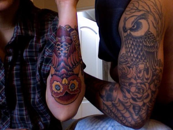 Tatuagens criativas de corujas (153)