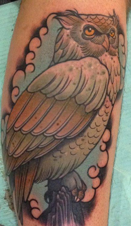 Tatuagens criativas de corujas (58)