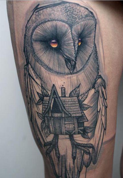 Tatuagens criativas de corujas (56)