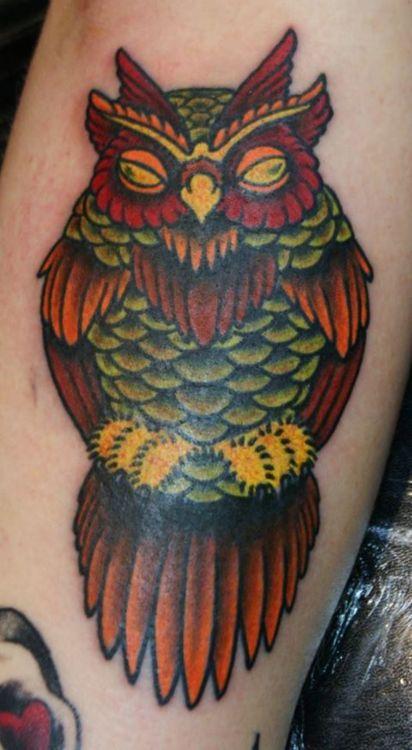 Tatuagens criativas de corujas (46)