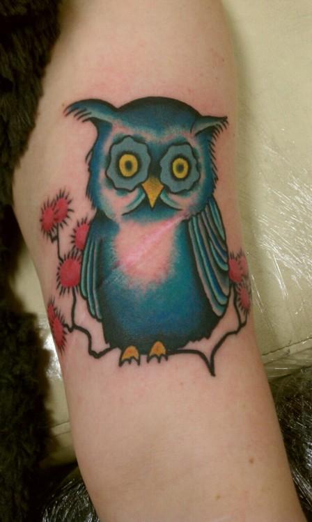Tatuagens criativas de corujas (43)