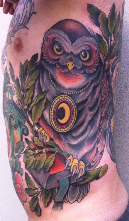 Tatuagens criativas de corujas (42)