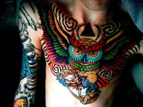 Tatuagens criativas de corujas (41)