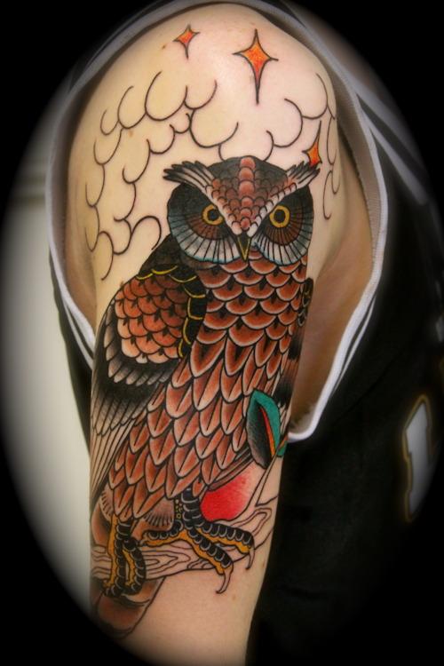 Tatuagens criativas de corujas (37)