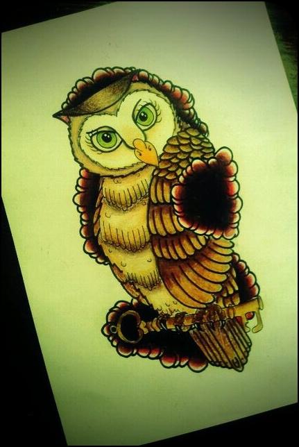Tatuagens criativas de corujas (36)