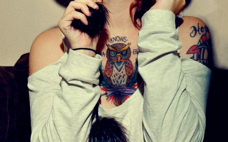Tatuagens criativas de corujas (35)