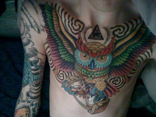 Tatuagens criativas de corujas (27)