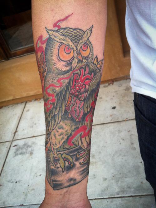 Tatuagens criativas de corujas (26)