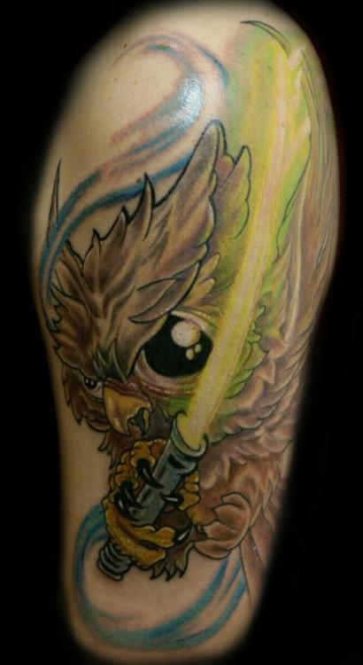 Tatuagens criativas de corujas (24)