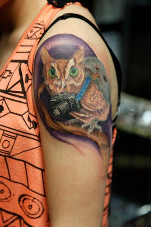 Tatuagens criativas de corujas (23)