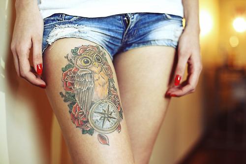 Tatuagens criativas de corujas (18)