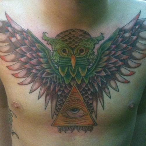 Tatuagens criativas de corujas (17)