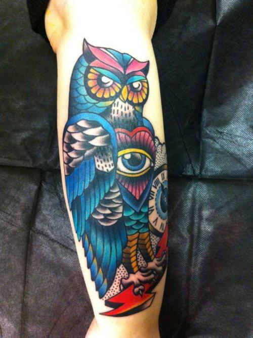 Tatuagens criativas de corujas (16)