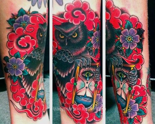 Tatuagens criativas de corujas (14)