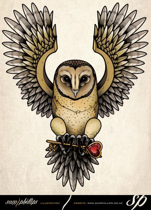 Tatuagens criativas de corujas (8)