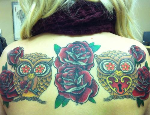 Tatuagens criativas de corujas (3)
