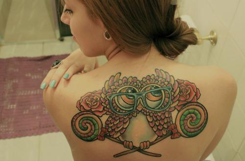 Tatuagens criativas de corujas (2)