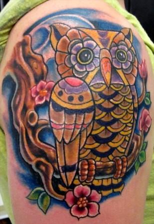 Tatuagens criativas de corujas (130)