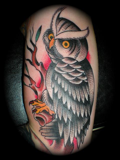 Tatuagens criativas de corujas (140)