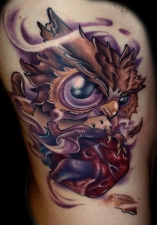 Tatuagens criativas de corujas (133)