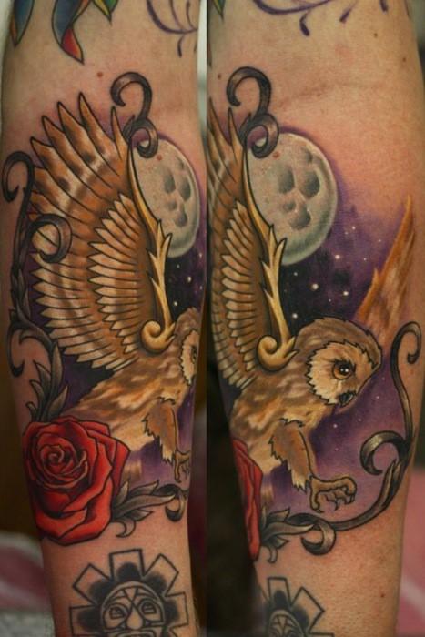 Tatuagens criativas de corujas (128)