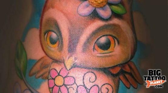 Tatuagens criativas de corujas (125)