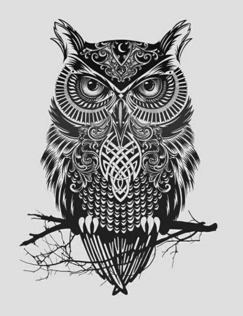 Tatuagens criativas de corujas (124)