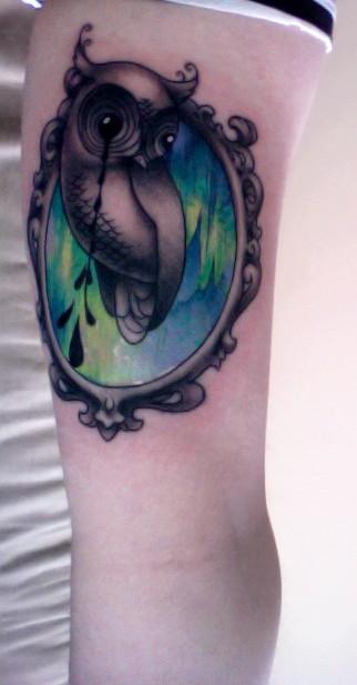 Tatuagens criativas de corujas (110)