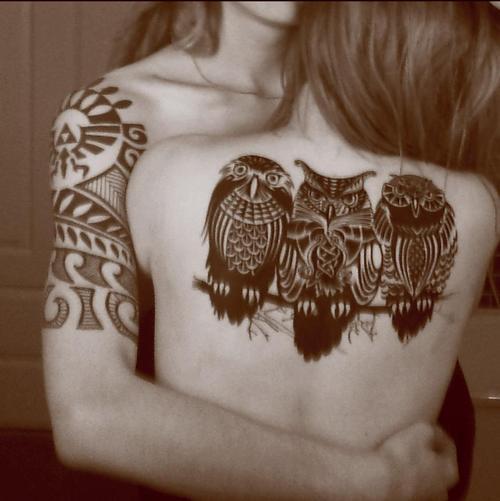 Tatuagens criativas de corujas (104)