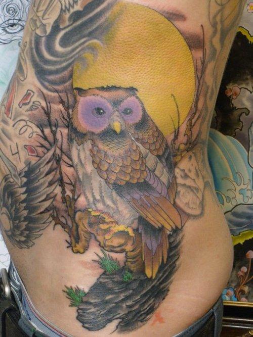 Tatuagens criativas de corujas (101)
