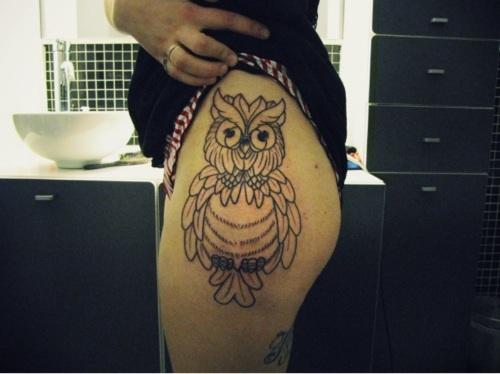 Tatuagens criativas de corujas (100)