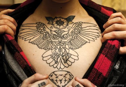Tatuagens criativas de corujas (94)