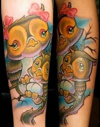 Tatuagens criativas de corujas (93)
