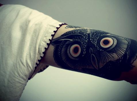 Tatuagens criativas de corujas (80)