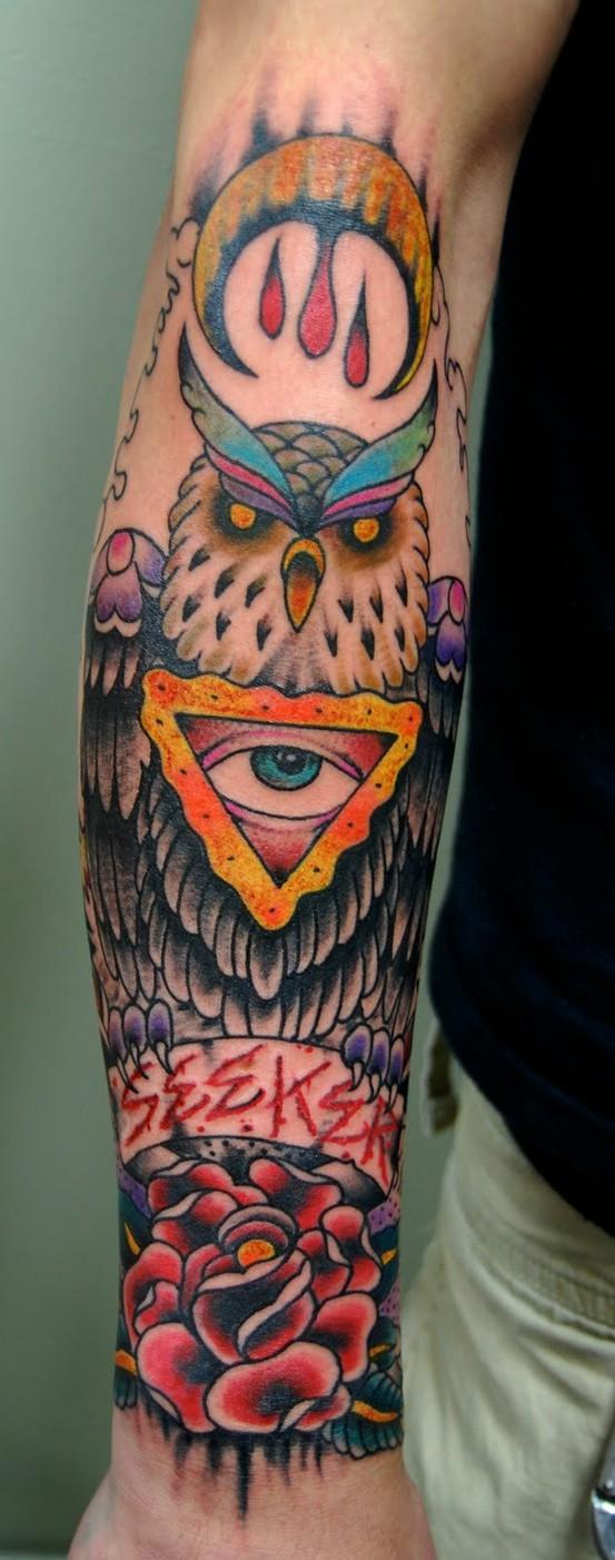 Tatuagens criativas de corujas (77)