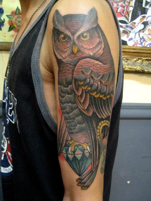 Tatuagens criativas de corujas (71)