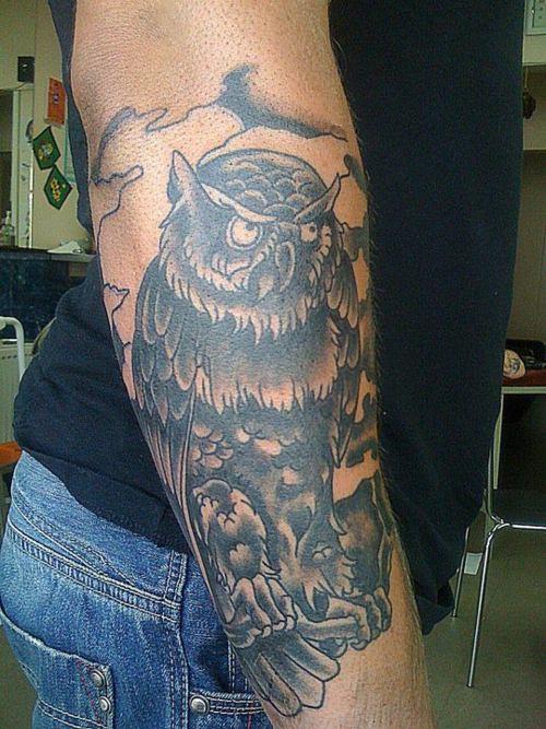 Tatuagens criativas de corujas (70)
