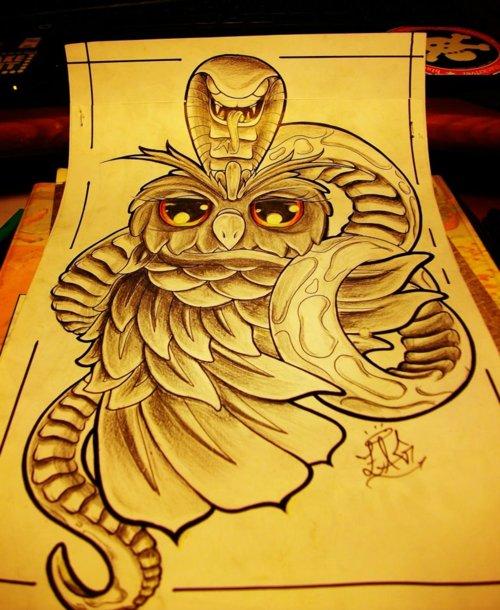 Tatuagens criativas de corujas (66)