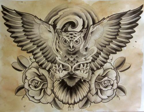 Tatuagens criativas de corujas (64)