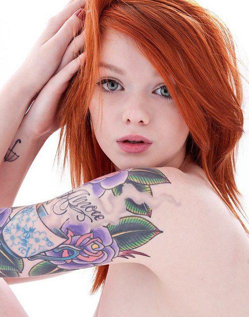 Seleção de fotos de ruivas tatuadas (40)