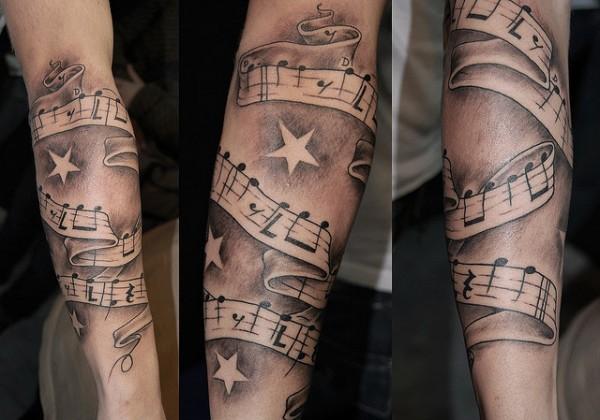 Tatuagens com o tema música (57)