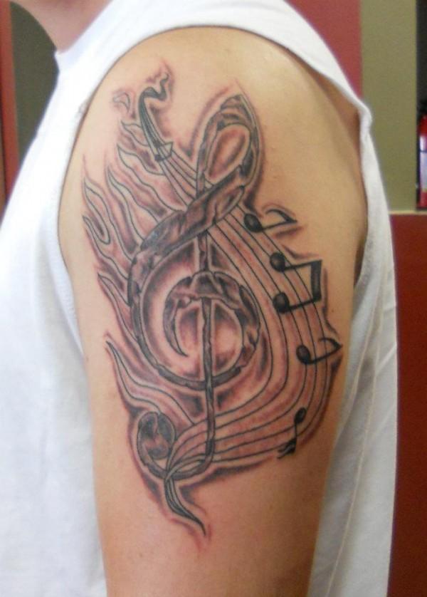 Tatuagens com o tema música (56)